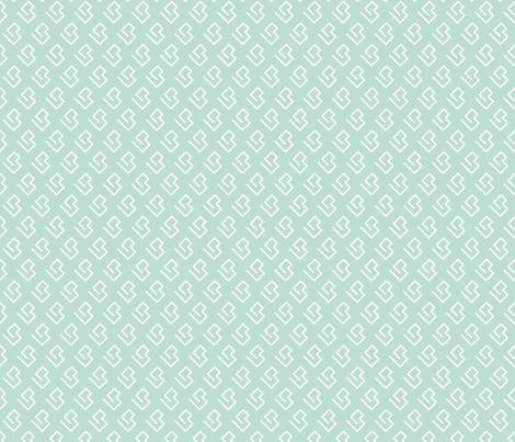 Geometric abstract maze scandinavian shape mint fabric by littlesmilemakers on Spoonflower - custom fabric