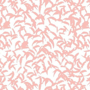 Trendy Scandinavian art abstract brush strokes and raw lines and spots pastel pink