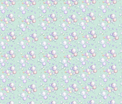IttyBitty_Bubbles_Mint fabric by empress_creative on Spoonflower - custom fabric