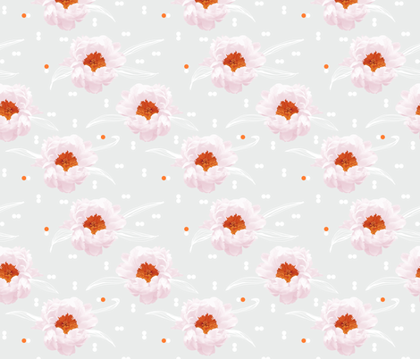 peonylove fabric by youdesignme on Spoonflower - custom fabric