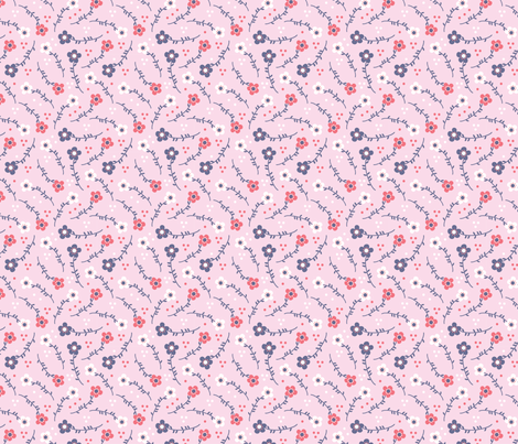 Pink Blossom fabric by ellodesign on Spoonflower - custom fabric