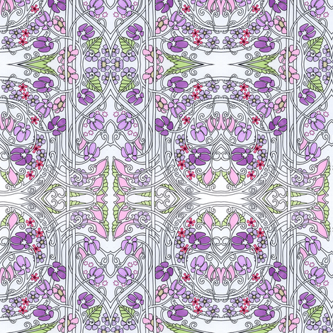 Violets are Purple, Not Blue fabric by edsel2084 on Spoonflower - custom fabric