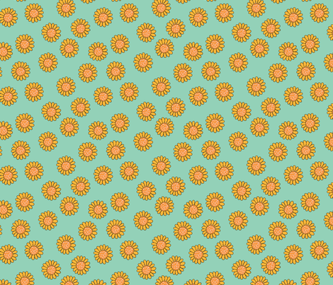 sunflower-01 fabric by handsofthecloth on Spoonflower - custom fabric