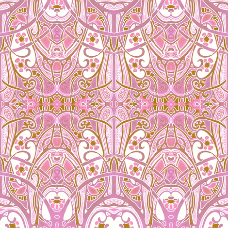 Do The Arabesque Pink fabric by edsel2084 on Spoonflower - custom fabric