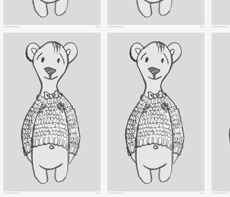 C_the_bear_teaTowel fabric by sinelinea on Spoonflower - custom fabric