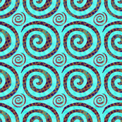 Blue Gold Spirals