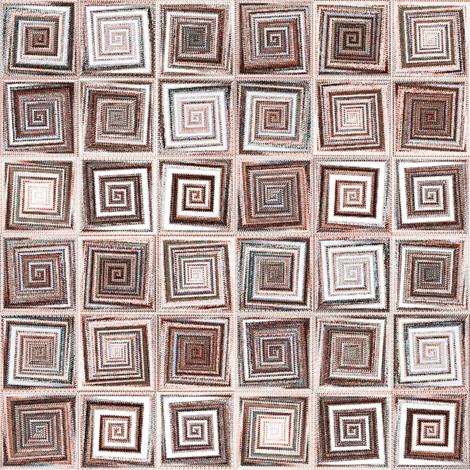 Ziggrid - sepia fabric by ormolu on Spoonflower - custom fabric