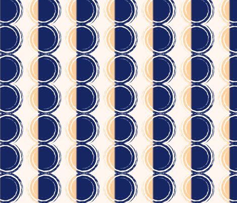 Blue Disks fabric by edjeanette on Spoonflower - custom fabric