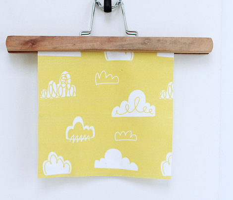 Doodle Clouds - Yellow