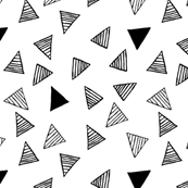 Raining Triangles - White - Small