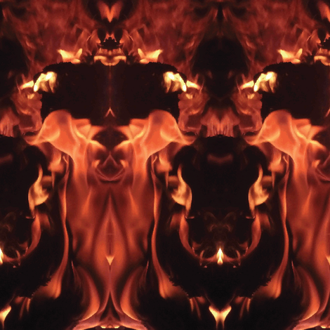 Flames of the Devil fabric by rayhunt on Spoonflower - custom fabric
