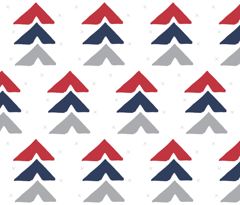 red + navy fabric by graceandcruzdesigns on Spoonflower - custom fabric