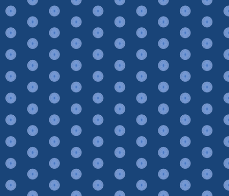 cloud spot     small on navy  fabric by koalalady on Spoonflower - custom fabric