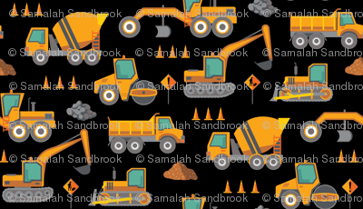 Construction: Roadworks Scatter - Large - Black