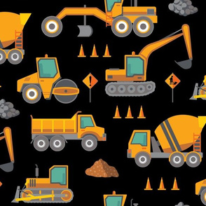 Construction: Roadworks Scatter - Large - Black