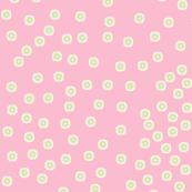 Pewter Pin Dot Patterns on Shell Pink