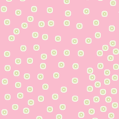 Pewter Pin Dot Patterns on Shell Pink