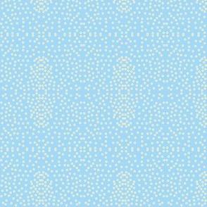 Pewter Pin Dot Patterns on Blue Hyacinth