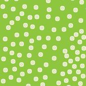 Pewter Pin Dot Patterns on Spring Green