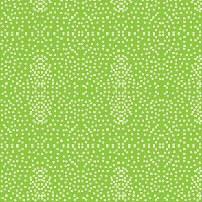 Pewter Pin Dot Patterns on Spring Green