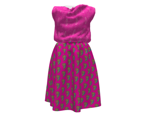 Pewter Pin Dot Patterns on Flirty Pink