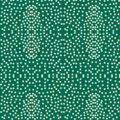 Pewter Pin Dot Patterns on Teal