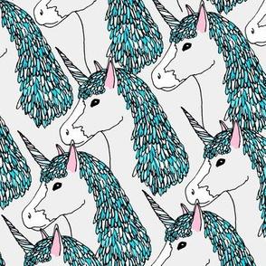 Confetti Unicorn Teal