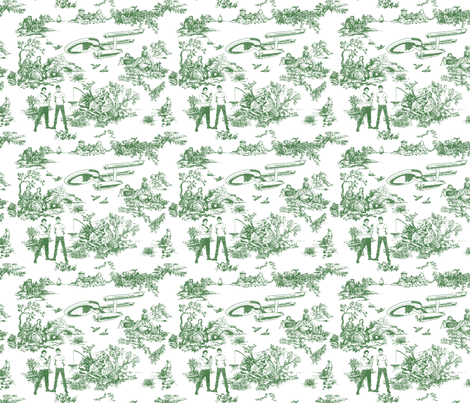 green HALF SIZE its life jim but not as you know it  fabric by debi_birkin on Spoonflower - custom fabric