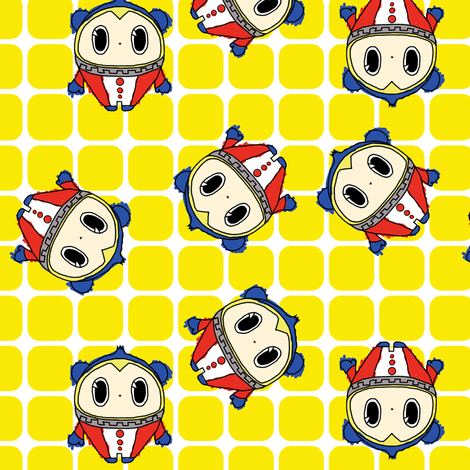 Persona 4 Teddie (doodled variant) fabric by mmarie-designs on Spoonflower - custom fabric