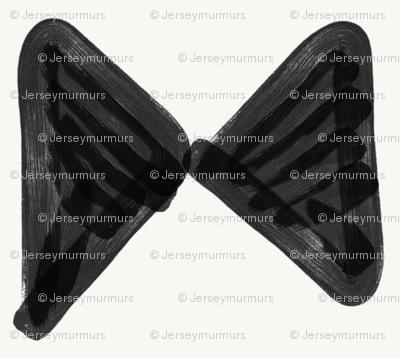 bow tie black on white