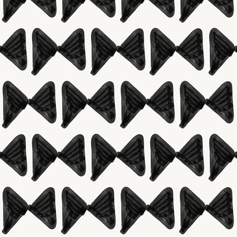 bow tie black on white fabric by jerseymurmurs on Spoonflower - custom fabric
