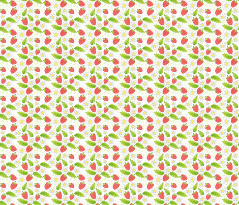 strawberries fabric by swoldham on Spoonflower - custom fabric