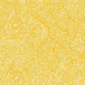 extra-large petoskey stone pattern in saffron and white