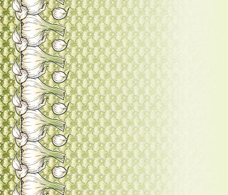 Good Green Garlic fabric by hannafate on Spoonflower - custom fabric