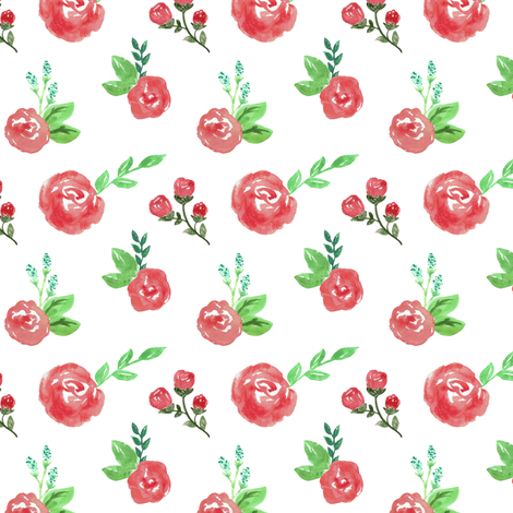 Roses are red fabric by mintpeony on Spoonflower - custom fabric