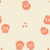Bitty Skulls - salmon