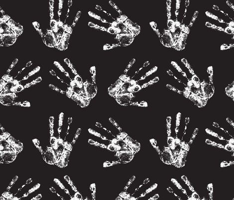 Handprints fabric by puggy_bubbles on Spoonflower - custom fabric