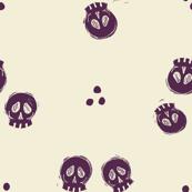 Bitty Skulls - eggplant