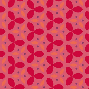Red and Pink Abstract Geometric