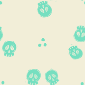 Bitty Skulls - mint