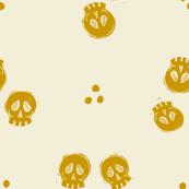 Bitty Skulls - mustard