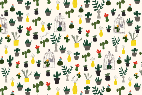 Green House fabric by frumafar on Spoonflower - custom fabric