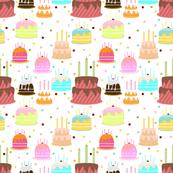 cake fabric wallpaper gift wrap spoonflower