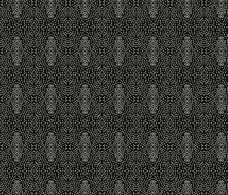 Pewter Pin Dot Patterns on Deep Black fabric by rhondadesigns on Spoonflower - custom fabric