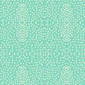 Pewter Pin Dot Patterns on Seafoam