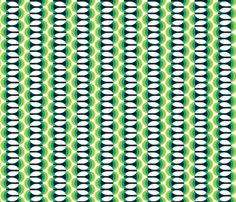 Magic Mushrooms Green with Envy fabric by alchemiedesign on Spoonflower - custom fabric