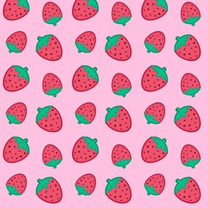 Confett Strawberries Red on Pink