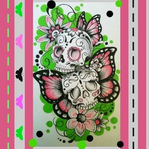 Day of the dead pinks