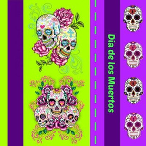 Day of the dead - purple lime
