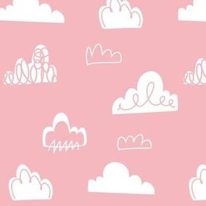 Doodle Clouds - Pink